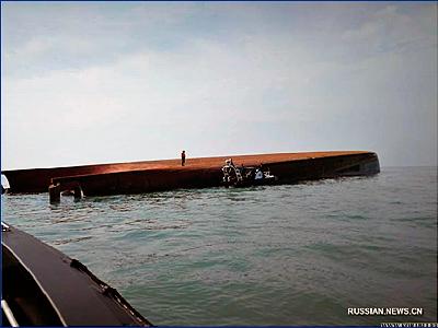 Судно для добычи песка с китайскими гражданами на борту потерпело крушение в Малайзии