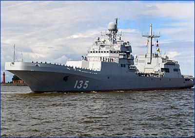 Передачу флоту БДК «Иван Грен» перенесли на начало мая
