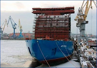 Готовность атомного ледокола «Арктика» достигла 60%