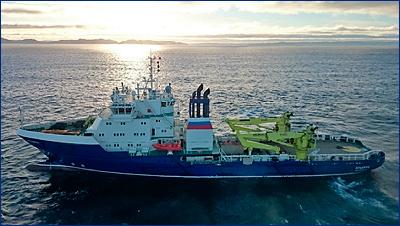 Северная верфь передала судно тылового обеспечения «Эльбрус» Военно-Морскому Флоту России