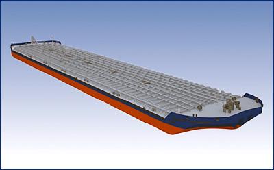 Окская судоверфь заложила пятую и шестую баржи проекта ROB20