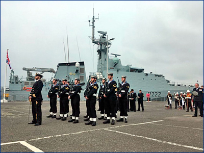 Британский флот ввел в строй первый патрульный корабль нового типа