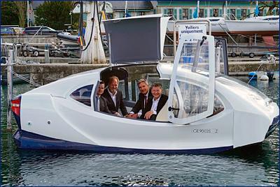 В Швейцарии представили проект инновационного водного эко-такси «Морские пузыри»