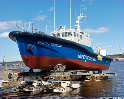 На Ярославском судостроительном заводе спустили на воду катер-бонопостановщик «Капитан Балашов»