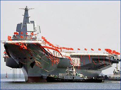 Второй китайский авианосец впервые выйдет в море на этой неделе
