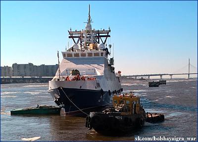В Санкт-Петербурге спущен на воду пограничный сторожевой корабль «Безупречный»