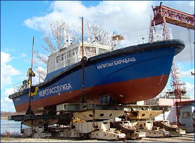 В Ярославле спустили на воду «Капитана Барабаша»