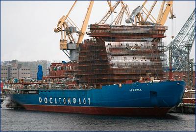 Начались швартовные испытания атомного ледокола «Арктика»