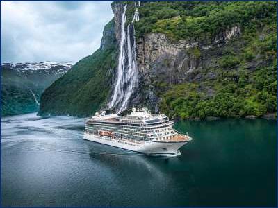 В Италии спустили на воду очередной круизный лайнер для Viking
