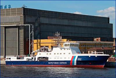 Спущено на воду пограничное патрульное судно «Камчатка» проекта 22120