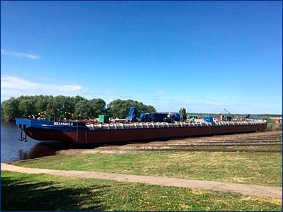 «Окская судоверфь» спустила на воду вторую нефтеналивную баржу проекта ROB20 «Белмакс 2»