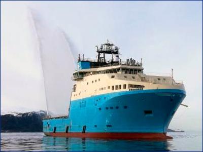 Новый ледокольный буксир Росатомфлота «Надым» вышел в направлении порта Мурманск