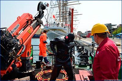 Водолазы Морспасслужбы восстановили возможность управления судном «Kaiwo Maru»