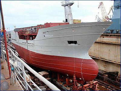 ПСЗ «Янтарь» 15 июня спустит на воду траулер «Ударник»