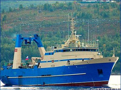 Буксировка аварийного судна «Гулдрангур»