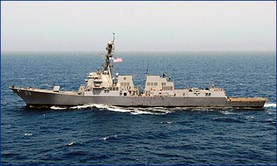 Ракетный эсминец USS Farragut с механическими повреждениями сопровождён в Норвегию