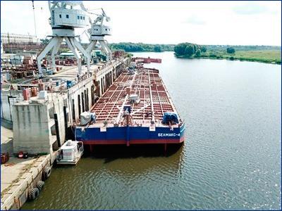 Окская судоверфь сдала в эксплуатацию несамоходную наливную баржу проекта ROB20 «Белмакс 4»