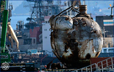 С модернизируемого «Адмирала Кузнецова» сняли один из главных паровых котлов