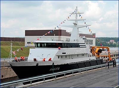 Опытовое судно «Ладога» прошло заводские испытания