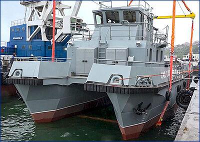 Новый поисково-спасательный катер для Тихоокеанского флота спустили на воду