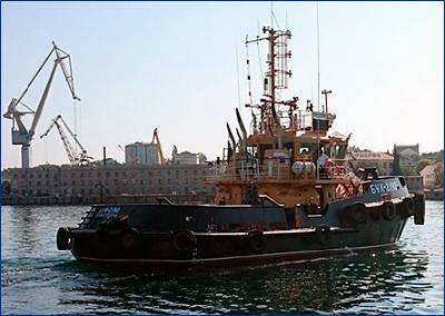 Новый рейдовый буксир «БУК-2190» вошел в состав Черноморского флота