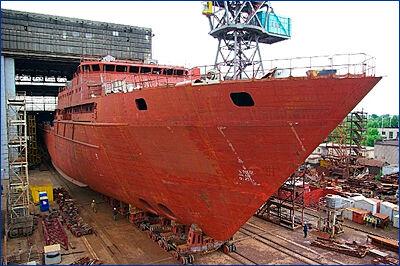 Первое серийное океанографическое судно проекта 22010 готово лишь на треть