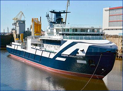 Исследовательское судно «Академик Александров» будет сдано во второй половине 2019 года