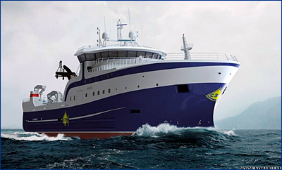 ВСЗ спустит на воду траулер-процессор проекта KMT01 «Баренцево Море»