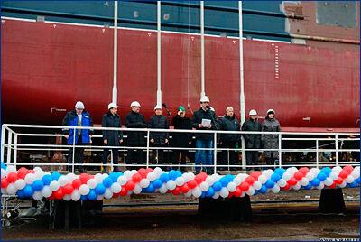 На ВСЗ спустили на воду траулер-процессор проекта KMT01 «Баренцево Море»