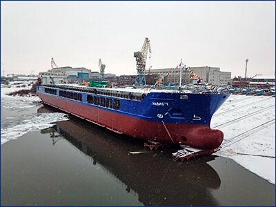 «Окская судоверфь» спустила на воду головной сухогруз проекта RSD32M «Навис -1» по заказу ГТЛК