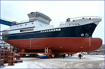 Судзавод «Пелла» 26 декабря спустит на воду головное судно для добычи краба проекта 03070 «Русь»