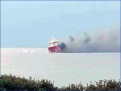 Мальтийский нефтяной танкер взорвался у берегов Кипра
