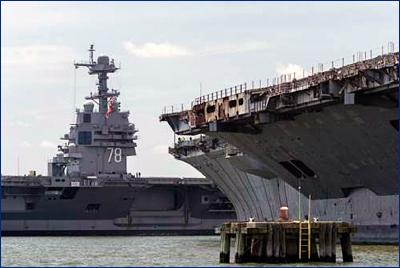 Флот США пополнится еще двумя атомными авианосцами