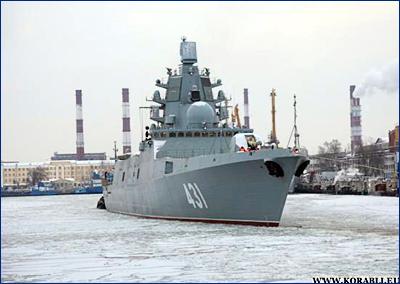 Новейший фрегат «Адмирал Касатонов» успешно завершил первый этап ходовых испытаний в Балтийском море