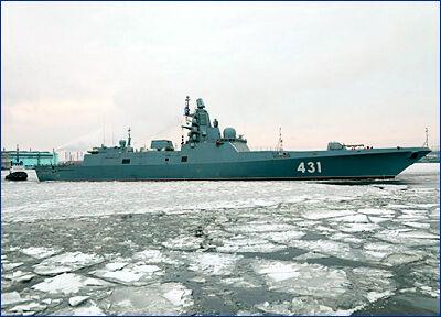 Фрегат «Адмирал Касатонов» вернулся с первого этапа ходовых испытаний