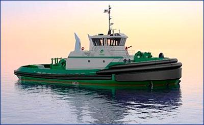 Jensen Maritime разработала проект портовых экологичных буксиров для Foss Maritime