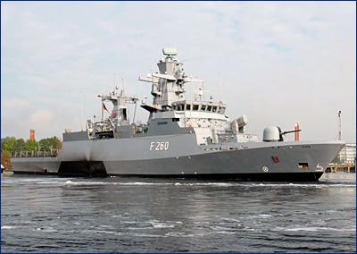 В феврале начнется постройка второй пятерки корветов «Брауншвейг» для флота ФРГ