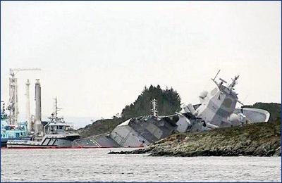 Норвежские военные не могут поднять танкер, затонувший в результате их ошибки