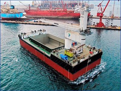 Турецкая верфь Бешикташ спустила на воду второй рейдовый перевалочный комплекс проекта CV03 Luft 2