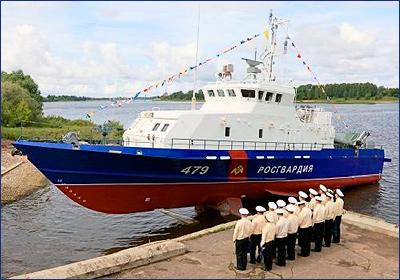 ССЗ «Вымпел» спустил на воду второго грачонка для Росгвардии