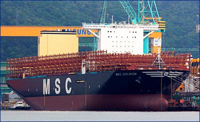 Контейнеровоз MSC Gulsun сдан в эксплуатацию