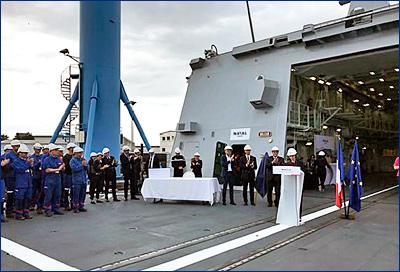 Naval Group завершила строительство шестого фрегата класса FREMM для ВМС страны