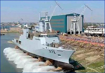 Damen спустил на воду очередной корвет для ВМС Пакистана