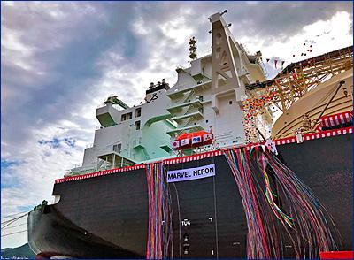 В Японии прошла церемония имянаречения нового СПГ танкера для работы на проекте «Камерон»