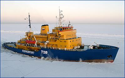 Отказ двигателей: российский ледокол подал сигнал о бедствии