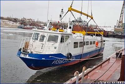 Администрация Ленского бассейна приняла головное промерное судно «Изыскатель», построенное на ЯСЗ
