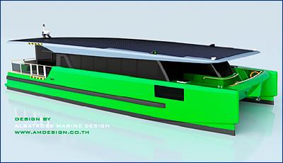 В России патентуют новый проект катамарана на солнечных панелях