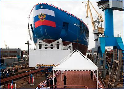 Начались швартовные испытания первого серийного атомного ледокола типа «Арктика»