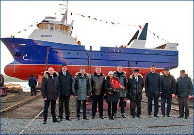В Рыбинске спустили на воду новый траулер для Северного бассейна