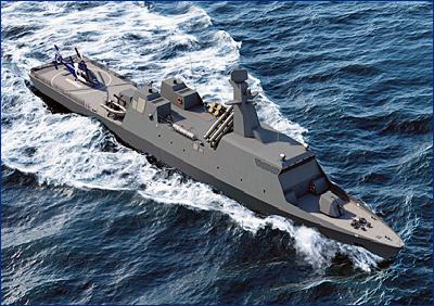 Israel Shipyards разработает эскизный проект корвета следующего поколения для ВМС Израиля